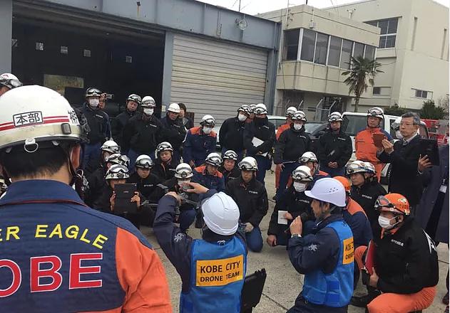 神戸市 捜索救助活動の訓練参加